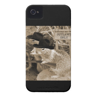 Squirrel Outlaws In The Old West iPhone 4 Case-Mate Cases