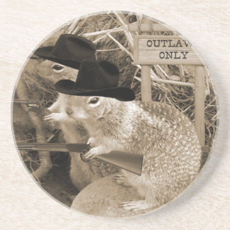 Squirrel Outlaws In The Old West Coaster