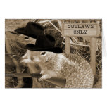 Squirrel Outlaws In The Old West Greeting Card