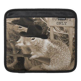 Squirrel Outlaws In The Old West iPad Sleeve