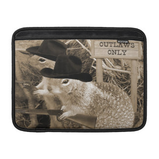 Squirrel Outlaws In The Old West MacBook Sleeve