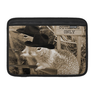 Squirrel Outlaws In The Old West MacBook Air Sleeves