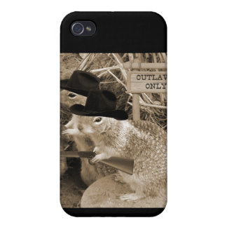 Squirrel Outlaws In The Old West Cover For iPhone 4