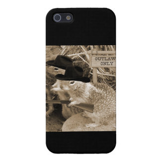 Squirrel Outlaws In The Old West iPhone SE/5/5s Case