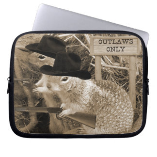 Squirrel Outlaws In The Old West Laptop Sleeve