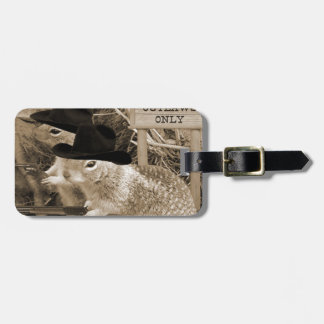 Squirrel Outlaws In The Old West Bag Tag
