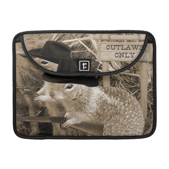Squirrel Outlaws In The Old West MacBook Pro Sleeve