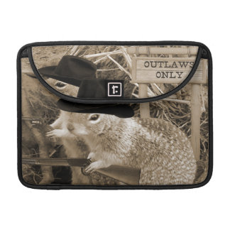 Squirrel Outlaws In The Old West Sleeves For MacBooks