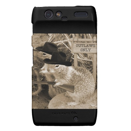 Squirrel Outlaws In The Old West Motorola Droid RAZR Cover