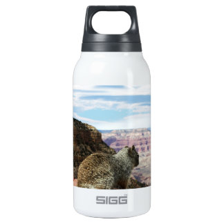 Squirrel Overlooking Grand Canyon, Arizona 10 Oz Insulated SIGG Thermos Water Bottle