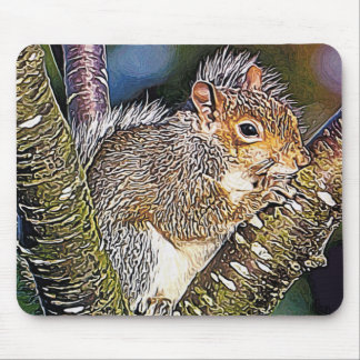 Squirrel Painting Mouse Pads