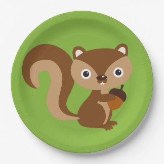Squirrel Paper Plate