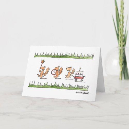 Squirrel Parade Card