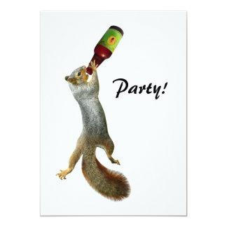 Squirrel Party Invitation