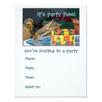 Squirrel - party invitation