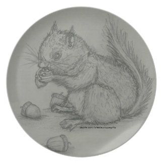 Squirrel Pencil Drawing Plate