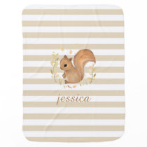 Squirrel Personalized Baby Blanket