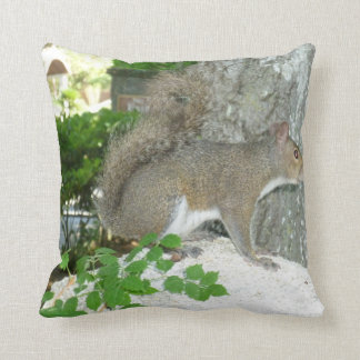 Squirrel photo image throw pillow