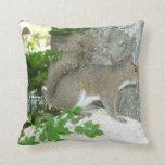 Squirrel photo image throw pillows