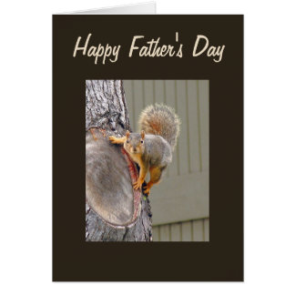 Squirrel Photograph Happy Father's Day Card