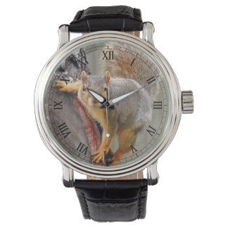 Squirrel Photograph Wristwatch