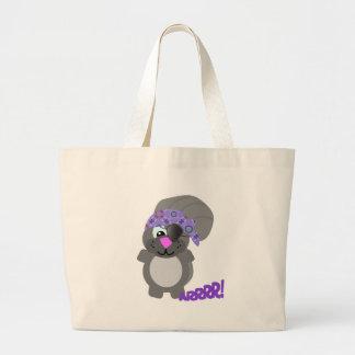 squirrel pirate canvas bags
