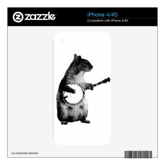 Squirrel Playing A Banjo iPhone 4S Skin