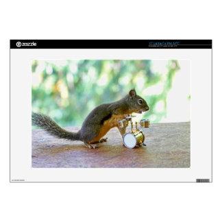 Squirrel Playing Drums Laptop Skins
