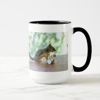Squirrel Playing Drums Mug