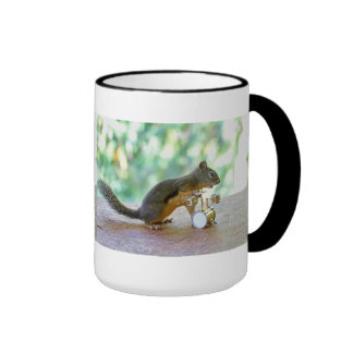 Squirrel Playing Drums Coffee Mug