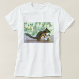 Squirrel Playing Drums T Shirt