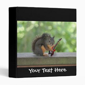 Squirrel Playing Electric Guitar 3 Ring Binder
