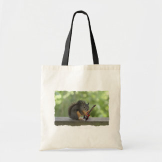 Squirrel Playing Electric Guitar Canvas Bag