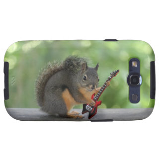 Squirrel Playing Electric Guitar Samsung Galaxy S3 Cover