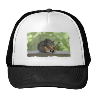 Squirrel Playing Electric Guitar Hats
