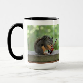 Squirrel Playing Electric Guitar Mug