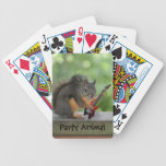 Squirrel Playing Electric Guitar Bicycle Poker Cards