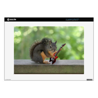 Squirrel Playing Electric Guitar Laptop Decals