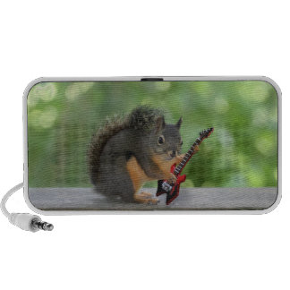 Squirrel Playing Electric Guitar Travelling Speaker