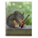 Squirrel Playing Electric Guitar Spiral Note Book