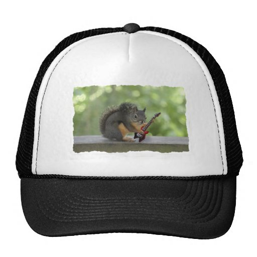 Squirrel Playing Electric Guitar Trucker Hat