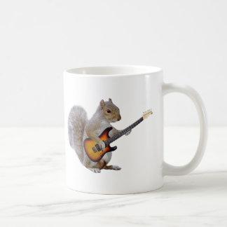 Squirrel Playing Guitar Coffee Mug