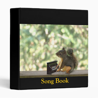 Squirrel Playing Piano 3 Ring Binders