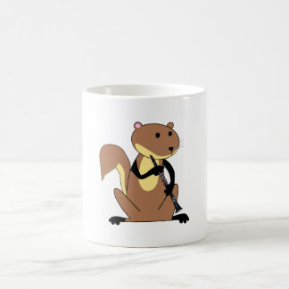 Squirrel Playing the Clarinet Classic White Coffee Mug