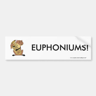 Squirrel Playing the Euphonium Bumper Sticker