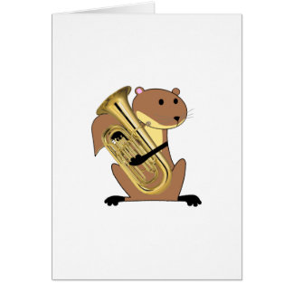 Squirrel Playing the Euphonium Card