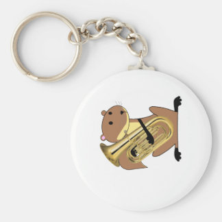 Squirrel Playing the Euphonium Keychain