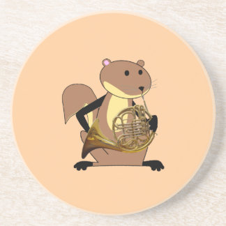 Squirrel Playing the French Horn Coaster
