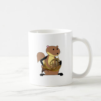 Squirrel Playing the French Horn Coffee Mug