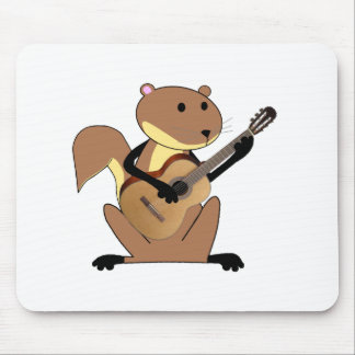 Squirrel Playing the Guitar Mouse Pad